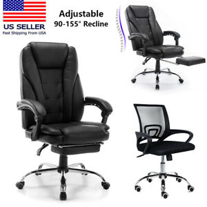 Ergonomic Design Executive Leather Mesh Office Chair Adjustable Rolling Chair