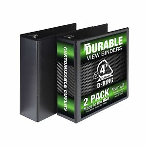 Durable 3 Ring View Binders 4 Inch Locking D ring Pvc free non stick Cover