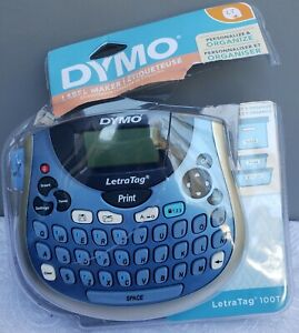 New Dymo Letratag Lt 100t Personal Label Maker Portable Thermal Printer Blue