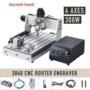 Secondhand 4 Axis Cnc Router Cutting Engraving Carving Machine With Usb Port