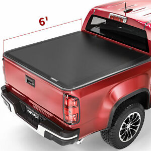 Oedro 6ft Roll Up Truck Bed Tonneau Cover For 15 2021 Chevrolet Colorado Canyon