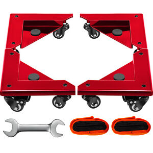 Furniture Dolly Corner Moving Dolly 1380lbs Desk Cabinet Moving Cart 4 pack Red