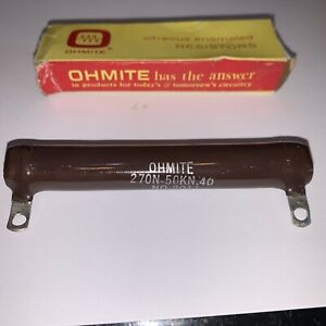 1 K Ohm 50 Watt Non Inductive Power Resistor New In Box By Ohmite 270n 50kn 40