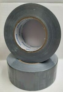 2 Inch X 55 Yds General Purpose Duct Tape Lot Of 2 Rolls Silver New