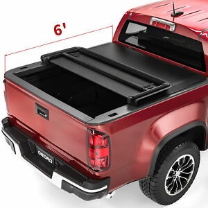 Oedro 6ft Tri Fold Truck Bed Tonneau Cover For 15 22 Chevy Colorado Gmc Canyon