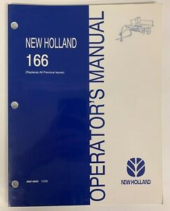 New Holland Operator s Manual Model 166 Windrower