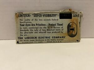 Vintage Lincoln Welding Electric Super Visibility Lens Shade No 8