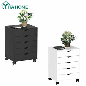 Yitahome 5 Drawer Office Storage Mobile File Cabinet Casters Dresser Organizer