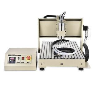 Usb 4 Axis 6040 Cnc Router Engraver 1 5kw Vfd Pcb Milling Driiling Machine 3d