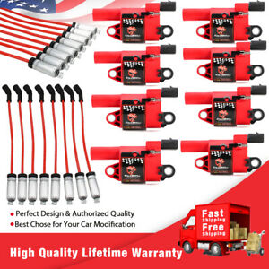 D514a Ignition Coil Pack 8 8 Spark Plug Wires For Ls2 Ls3 Ls4 Ls7 Engines
