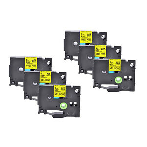 6pk Compatible With Brother Pt d210 Tz621 Tze621 9mm Black On Yellow Label Tape