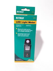 Extech Led Light Meter Lt40 40k Fc To 400k Lux New Factory Sealed Free Shipping