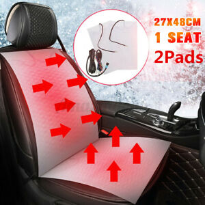 Carbon Fiber Heated Seat Heater Car Cushion High Low Round Switch For One Seat