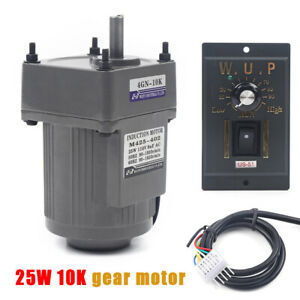 110v 25w Ac Gear Motor Electric Motor Variable Speed Controller 1 10 135rpm