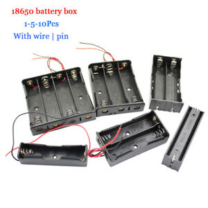 1 5 10pcs 18650 Diy Battery Box Holder Case Rechargeable Wire Lead 1 To 4 Knots