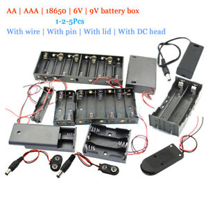 Diy Battery Aa Aaa 18650 Holder Case Box Base 6 9v Volt With Bare Wires Shell