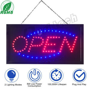 Bright Led Neon Light Animated Motion With On off Store Open Business Sign Us