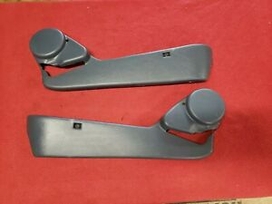 87 91 92 96 Ford F150 Truck Bronco Bucket Seat Lower Trim Manual Left Right Blue