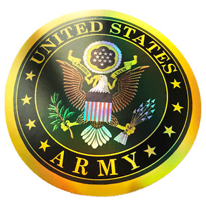 Reflective United States Army US Seal American Sticker Bumper Shiny Decal $3.49