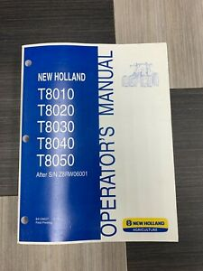 New Holland T8010 t8050 Operator s Manual
