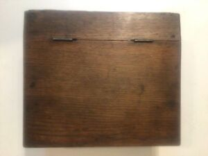 Antique Small Writing Desk With Storage Blind Dovetail Oak