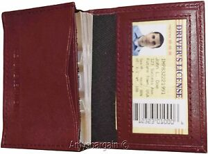 New Women Men s Leather Business Credit Card Id Card Holder Fifty Cards Case 15