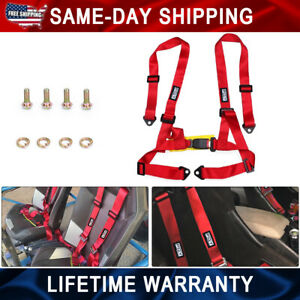 4 Point Racing Safety Harness 2 Straps Seat Belt Buckle For Racing Go Kart