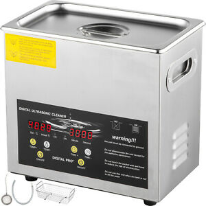 Vevor 3l Ultrasonic Cleaner 200w Industry Heater Lab Cleaning Equipment W timer