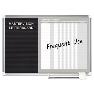 Mastervisi Ga0387830 In out And Notice Board 36x24 Silver Frame