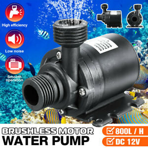 Dc 12v Lift 5m 800l h Ultra Quiet Brushless Motor Submersible Pool Water Pump