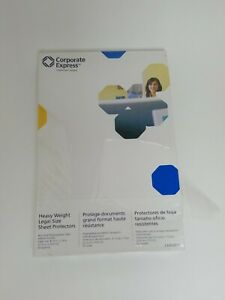 Corporate Express Legal Size Sheet Protectors heavyweight 50 Pack 8 5x14in