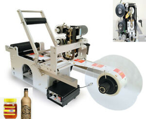 Round Bottle Labeling Machine With Date Code Printer Small Structure Lt 50d Usa