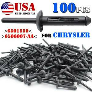 100x Plastic Pop Blind Rivets Clip Wheel Fastener Arch Side Skirts Sill Cover Fits 2004 Saturn Ion