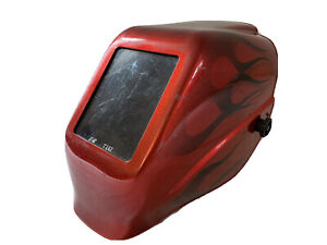 Jackson Safety Fixed Shade W10 Hlx 100 Welding Helmet Red With Flames