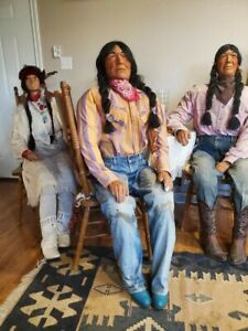 Native American Mannequins X3 Full Body for Pickup Only