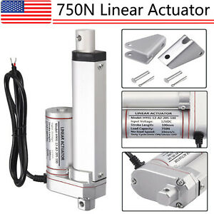 Dc 12v Linear Actuator 160lbs With Stents Electric Motor 750n Lift 100mm 4 Us