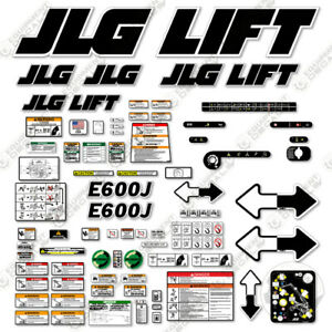 Jlg E600j Decal Kit Electric Boom Lift 7 Year Outdoor 3m Vinyl