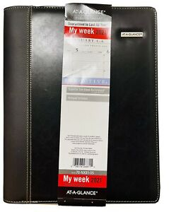 2021 At a glance Zipper Padfolio Planner Weekly monthly Appointment Book