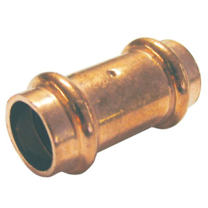 1 In Copper Press X Press Pressure Coupling With Dimple Stop