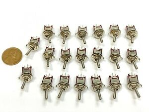 20 Sub Miniature Toggle Switch Spdt On off on 3 Way 3 Pins Latching Lock 5mm G25