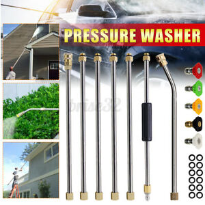 High Pressure Washer Gutter Cleaner Attachment Lance Wand 4000 Psi 5 Tips Too