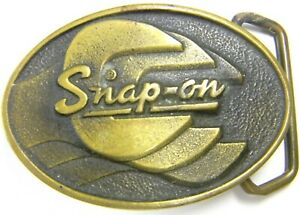 Vintage Snap On Tools Solid Brass Wrenches Spp 439 Belt Buckle Made In Usa