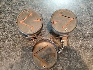Pair Vintage Signal Stat 704 Arrow Turn Signals Hooded Double Sided Rat Rod
