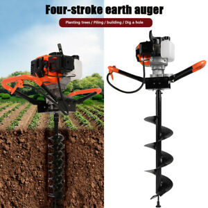 Essgoo 52cc 2 stroke Earth Auger Gas Powered Post Hole Digger Machine 3 Bits