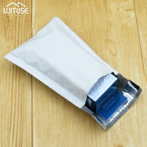 White Pearl Film Bubble Envelope Courier Bags Waterproof Fast Mail Packaging 94
