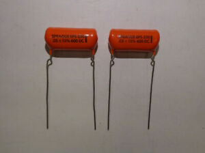 Capacitors 6ps s50 600dc 10 Pvc615 By Sprague Set Of 2 Each New