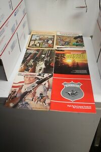 VINTAGE WINCHESTER WESTERN SPORTING ARMS AMMUNITION RELOADING CATALOGS 6 TOTAL $19.50