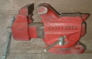 Craftsman Bench Vise Vice Anvil Swivel 3 1 2 Jaws Made In Usa No 506 51801