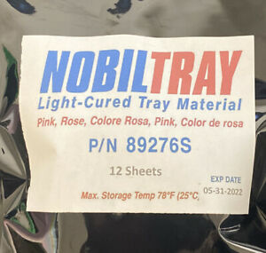 12 Nobiltray Light cured Tray Material Pink Sheets Dental Triad New Lab Supplies