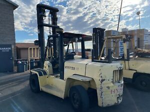 2007 Hyster Diesel Forklift 155xl 15 500 Lb Capacity Only 3896 Hours